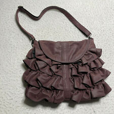 Big Buddha Hand Bag Womens Purse Medium Sized Frill W/ Shoulder Strap Mauve