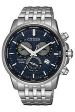 Citizen Eco-Drive Perpetual Calendar 42mm SS Watch With Blue Dial - BL8150-86L