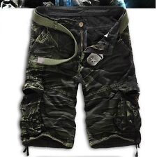 Mens Camouflage Cargo Summer Shorts Military Army Combat Short Pants Trousers