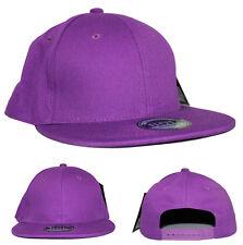 Plain Purple Snapback Flat Peak Baseball Cap