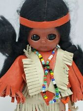 Vintage Native American Indian Girl Doll with Baby in Papoose