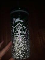 Starbucks Holiday 2020 NEW W TAG Green Snowfall 18oz Glass Cup 18oz Tumbler