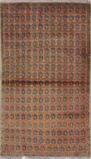 Zanjan 3x4 Wool Hand-Knotted All-Over Geometric Oriental Foyer Rug Rust