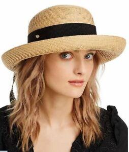 HELEN KAMINSKI Newport Raffia standard Bretton women's hat - NATURAL/BLACK