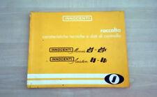 Innocenti IM3 - IM3S - J4 - J4S Manuale Officina Caratteristiche e Dati 1967