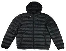 Ralph Lauren Polo Mens Pony Logo Down Puffer Jacket Navy black Black XL a1dba3bb6d