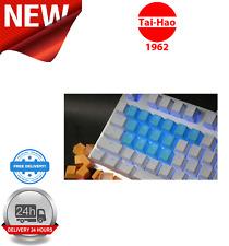 Tai-Hao TPR Rubber Backlit Double Shot 18 Keys Neon Blue KEY0082