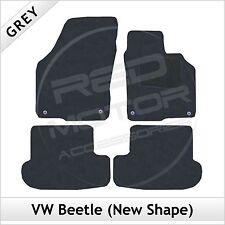 VOLKSWAGEN Vw Beetle (nueva forma) 2012 adelante Tailored Alfombra Alfombrillas De Coche Gris