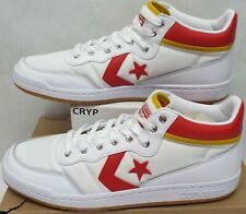 33764a0d711f New Mens 10 Converse Fastbreak Pro Mid White Enamel Red Shoes  75 159599C