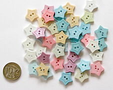 No 14 Novelty Buttons - 25 Stars Assorted Shades - Scrapbooking Sewing Craft
