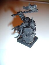 Warhammer Orcs and Goblins Black Orc Big Boss metal miniature OOP