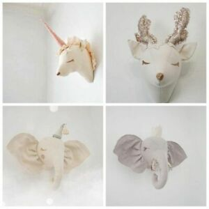 Nordic Animal Head Hanging Wall Mounted Decoration For Kids Room And Gift Crafts