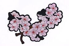Pink Sakura Iron On Patch (1 Pcs) Japanese Flower Large DIY Embroidered Applique