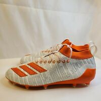 New Adidas Adizero 8.0 Football Cleats White Orange EE7452 Men's Size 10