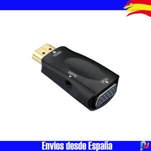 Adaptador HDMI macho a VGA Hembra (15 Pines) + Salida Audio Separada con Cable
