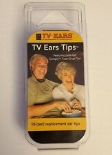 TV Ears Tips Comply ( 10 Replacement Ear Tips ) Foam Snap Tips