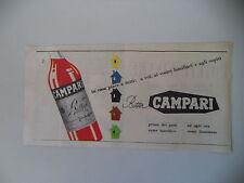 advertising Pubblicità 1954 BITTER CAMPARI