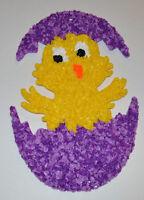 Vintage Purple Easter Egg Chick-a-dee Melted Plastic Popcorn Decoration Hanging