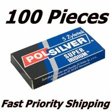 100 POLSILVER SUPER IRIDIUM DE BLADES PRIORITY SHIPPING WITH TRACKING