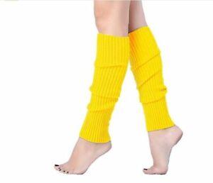 Leg Warmers Fancy Dress Accessories Neon Green Hot Pink Winter Warm Socks Blue