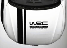 A Set Black Striped WRC Sports Car Front Hood Cover PVC Stickers Racing Decals