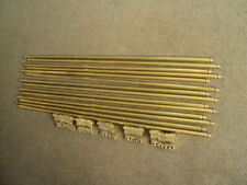 SET OF 13  VINTAGE SOLID  BRASS   STAIR RODS AND    BRACKETS