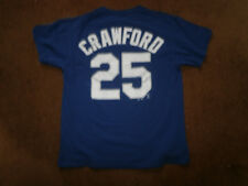 Dodgers Carl Crawford Majestic  Medium  T-shirt #25  Size: M EUC