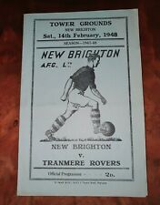 More details for  vintage programme new brighton v tranmere  rovers 14th february 1948