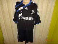 """FC Schalke 04 Original Adidas Ausweich Trikot 2009/10 """"GAZPROM"""" Gr.XXL TOP"""