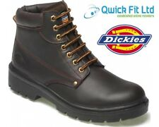 MENS DICKIES LEATHER SAFETY BOOTS STEEL TOE CAP ANKLE HIKER WORK LACE SHOES SIZE
