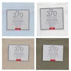Linen White Ice-Blue - 370TC Cotton SATEEN 4 Pce Sheet Set - QUEEN KING