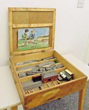 HO OO Gauge Model Railway Track Vintage Job Lot with Accessories in Wooden Case