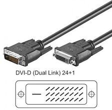 2m goobay dvi-d dual-link 24+1 verlängerung stecker buchse extensions kabel neu