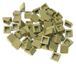 50x LEGO®  Schrägstein Dachstein 30° 1x1x2/3 54200 NEU Olive Grün