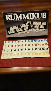 Rummikub Board Game Replacement Tiles Craft Pieces Parts 1980 Pressman