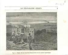 Polybe invente l'art des signaux alphabétique Grèce Antique GRAVURE PRINT 1890