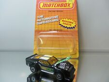 1987 Matchbox Imsa Mustang - Black W/ Gr.Yellow Tampo - Nmint Loose W/Card 1/64