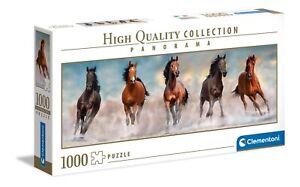 Clementoni 1000 Piece Panorama Jigsaw Puzzle - Horses