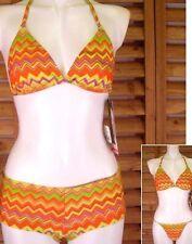 Gideon Oberon Bikini VINTAGE UK 8 THREE PIECE TOP SHORTS & THONG