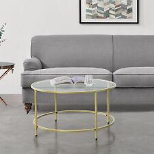 B-WARE Couchtisch Tisch Beistelltisch Wohnzimmertisch Sofatisch Ø84cm Gold