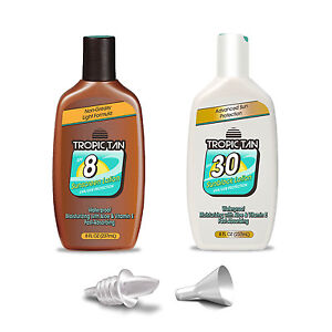 GoPong Tropic Tan Sunscreen Flask (2 Pack) - Classic Bottle Style