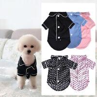 Pet Dog Cat Clothes Small Dog Pajamas Teddy Bear Apparel Costume Summer Hot