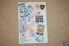 West Bromwich Albion v Walsall Programme 2 Dec 1992