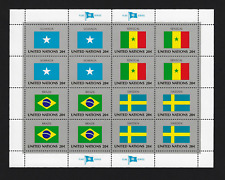 United Nations Stamps — Flag Series: Somalia, Senegal, Brazil & Sweden — MNH