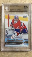 16-17 UD Upper Deck YG Young Guns #473 CHARLIE LINDGREN RC Rookie Graded BGS 9.5