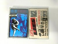 Lot of 2 Guns N Roses Cassette Tapes Use Your Illusion 2 GNR Lies Vintage