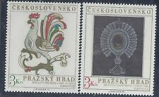 Czechoslovakia SC # 1937-8 used, complete 1974 Art set