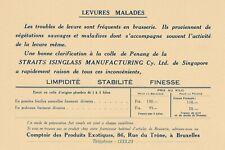B51 Rare Buvard Comptoir des Produits Exotiques BRUXELLES  Bière LEVURES MALADES