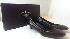 NIB PRADA NAPPA CHIC PATENT TOE SHOES 6 US 36 EU