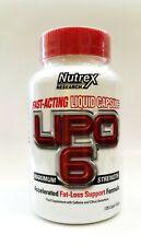 Nutrex Lipo 6, 120 liquid capsules International Version Fat Loss